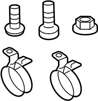 2008 Volkswagen Beetle Att. Parts. Splash guard kit mount