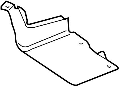 2003 Volkswagen Beetle Convertible Floor Pan Heat Shield