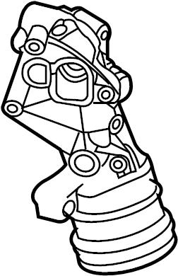 2009 Volkswagen Beetle Engine Oil Filter Adapter. FILTER