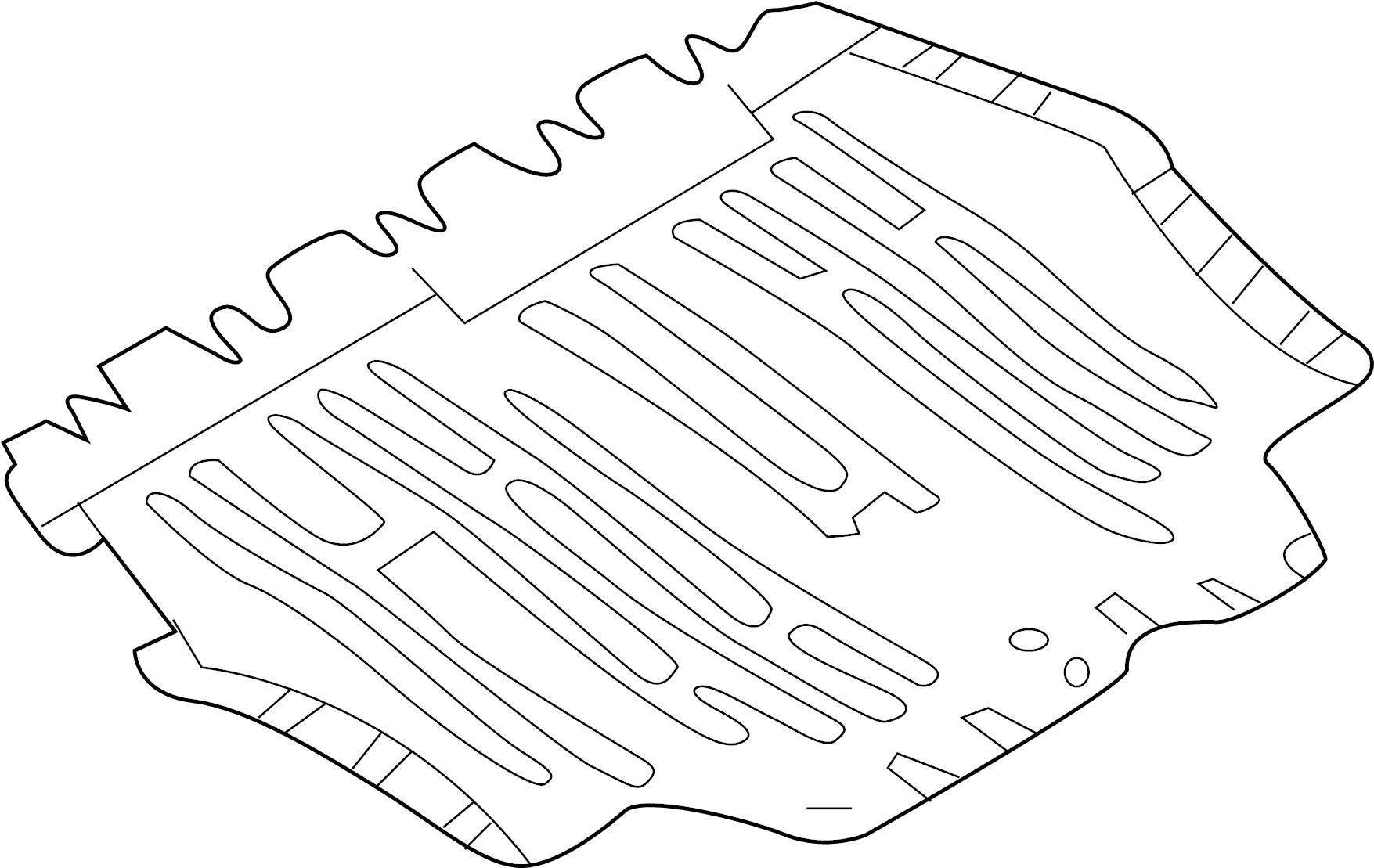 2015 Volkswagen Beetle Radiator Support Splash Shield