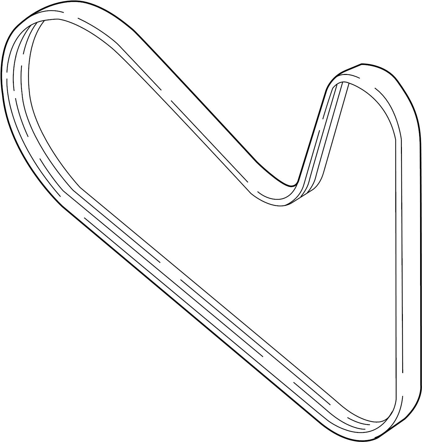 2015 Volkswagen Beetle Ribbedbelt. Serpentine belt. 2.0
