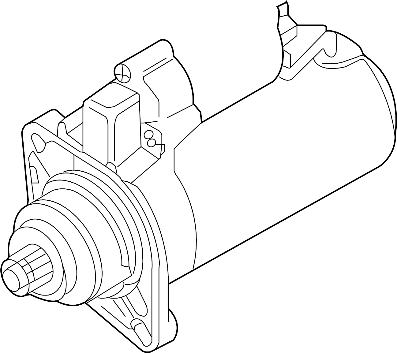2015 Volkswagen Beetle Convertible Starter Motor. 2.0 Kw