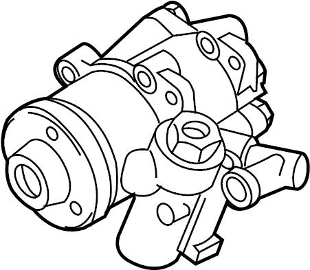 2014 Volkswagen Passat Power Steering Pump. Power Steering