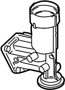 2011 Volkswagen Golf Adapter. Engine oil filter housing