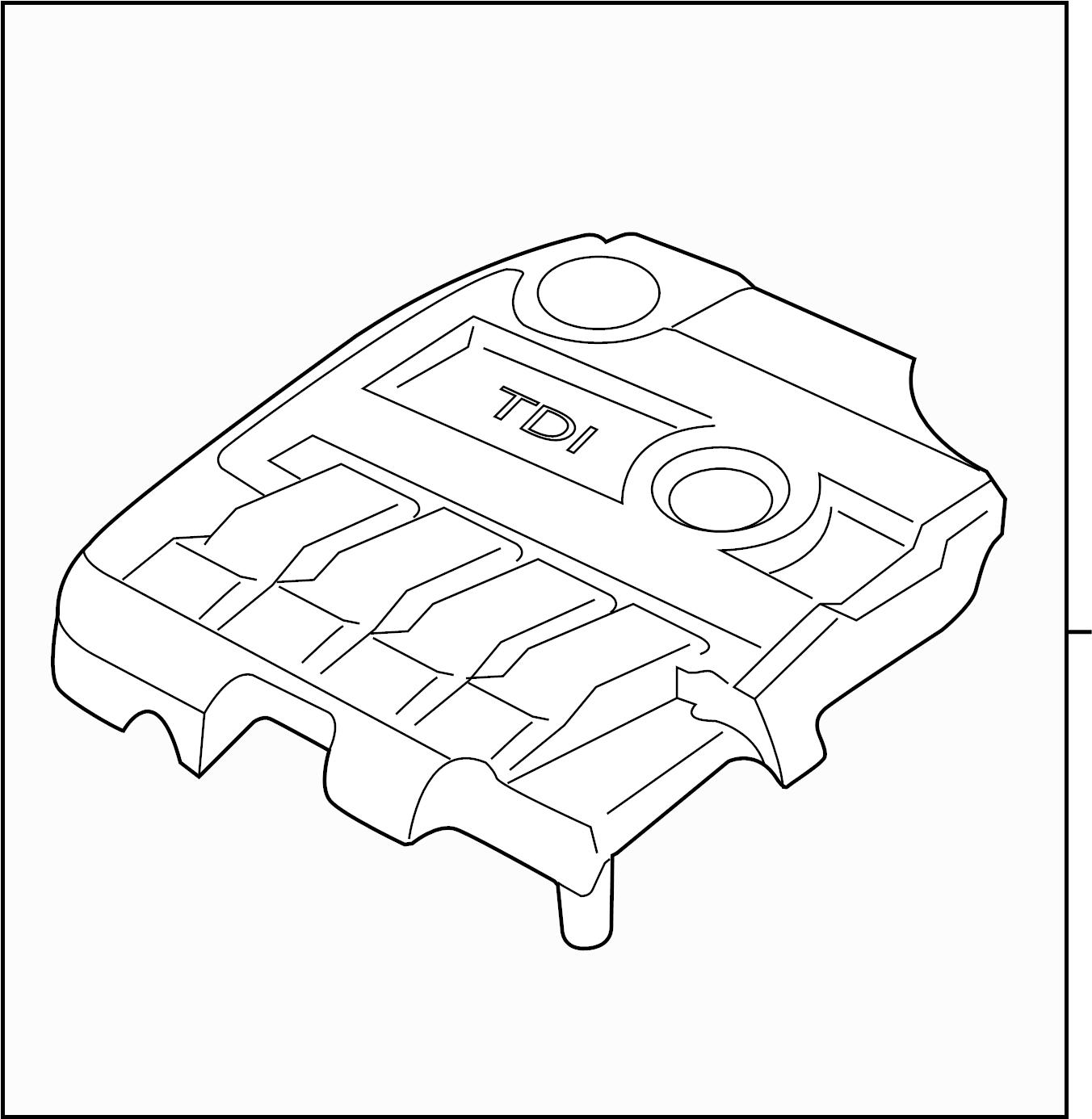 2011 Volkswagen Jetta Engine cover. LITER, DIESEL