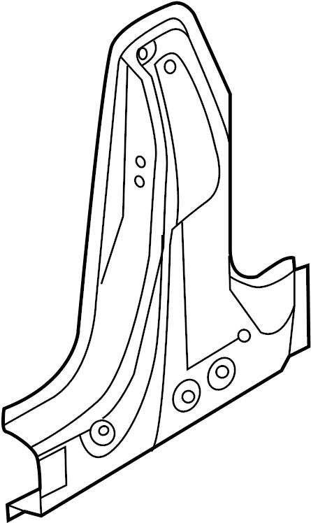 2014 Volkswagen Beetle Convertible Body B-Pillar