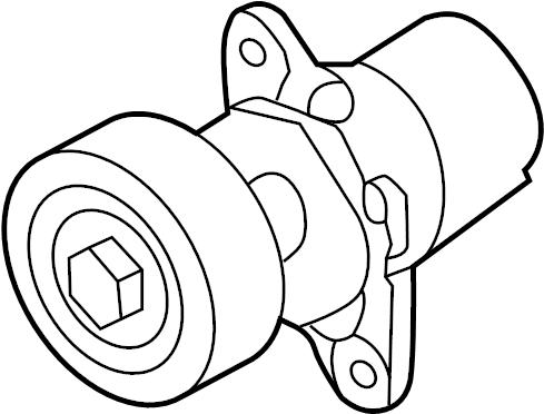 2015 Volkswagen Jetta Belt tensioner. Drive Belt Tensioner