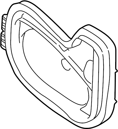1999 Volkswagen Cabrio Headlight Bulb Cap (Rear). Inner