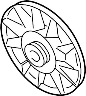 2000 Volkswagen Cabrio Engine Cooling Fan Blade. CYLINDER