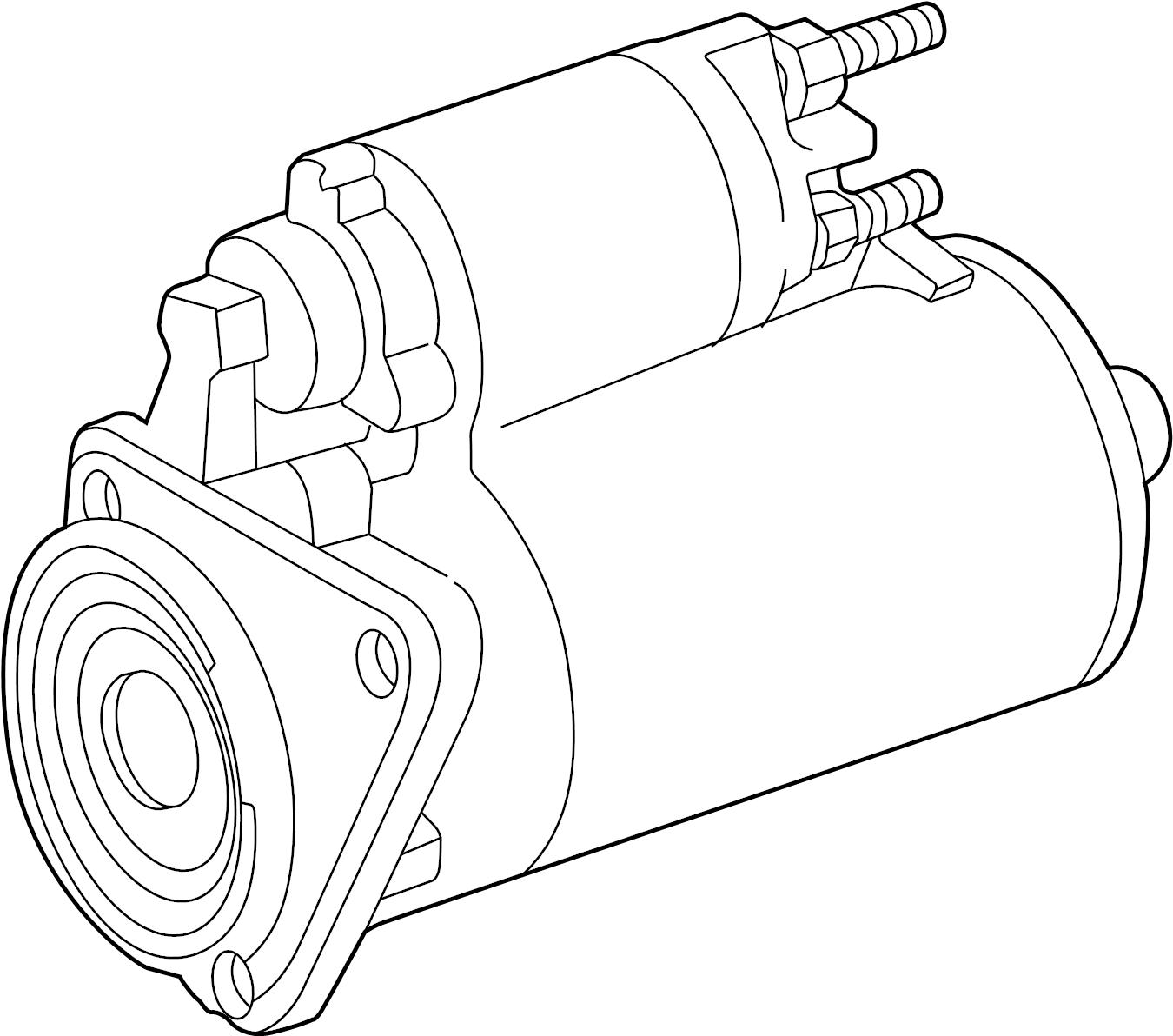 2003 Volkswagen EuroVan Starter Motor. Trans, Auto, Manual