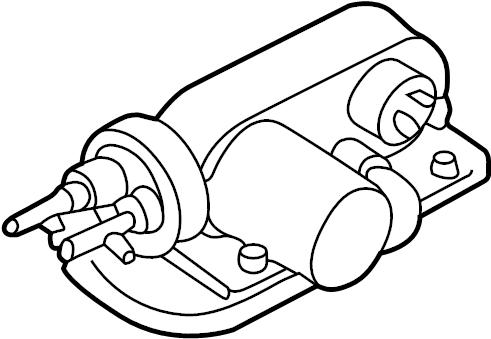 2000 Volkswagen Cabrio Actuator bracket. Cruise Control