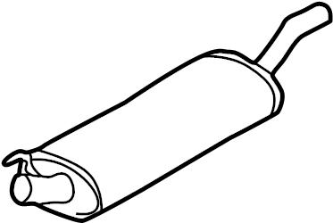 2000 Volkswagen Cabrio Exhaust Muffler. 4 CYLINDER GAS