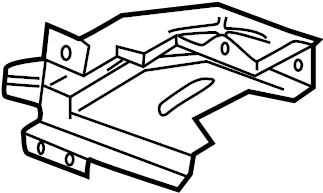 2000 Volkswagen Cabrio Cover. DEFL PLATE. Heat deflector