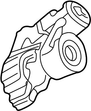 2001 Volkswagen Cabrio Lock housing. STEER LOCK. Manual