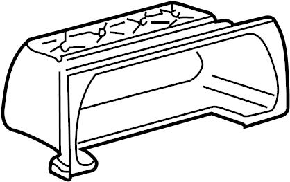1997 Volkswagen Jetta Instrument Panel Storage Compartment