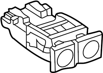 2000 Volkswagen Cabrio A/c control switch. Fog, lamps