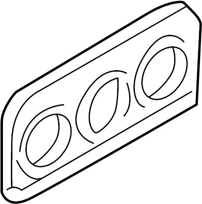 2000 Volkswagen Cabrio Instrument Panel Trim Panel. Cover