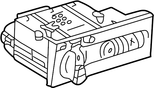 2000 Volkswagen Cabrio Headlight Switch. Lamps, Fog, Rear