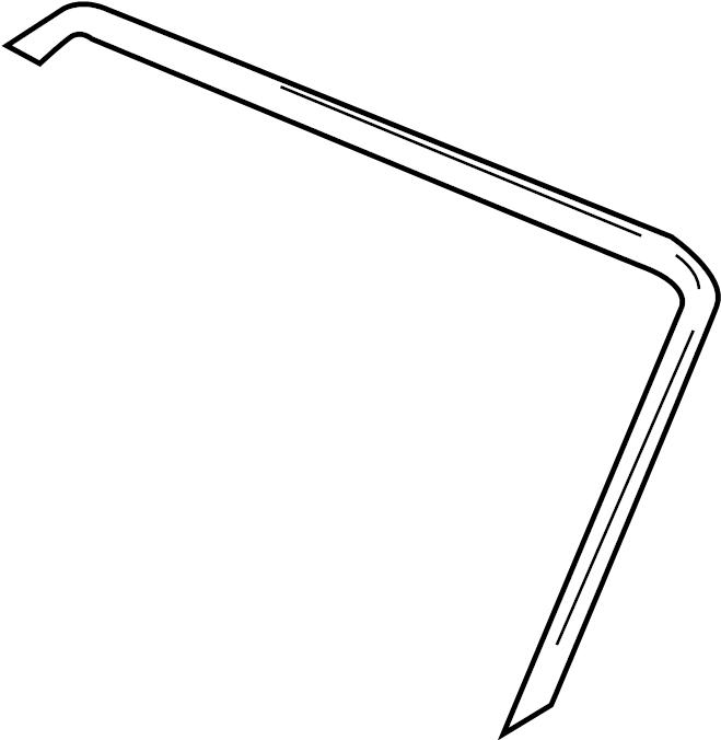 2002 Volkswagen Cabrio Windshield Frame Weatherstrip Seal