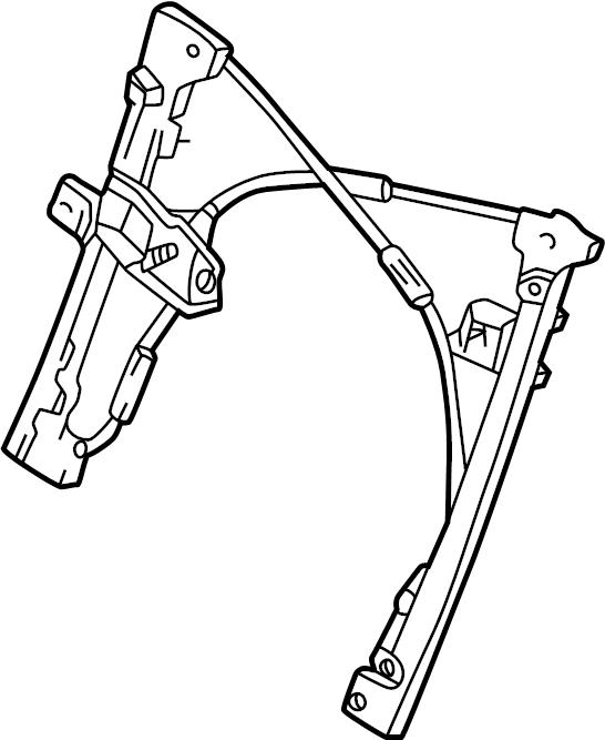 1995 Volkswagen Cabrio Window Regulator. Manual, Power