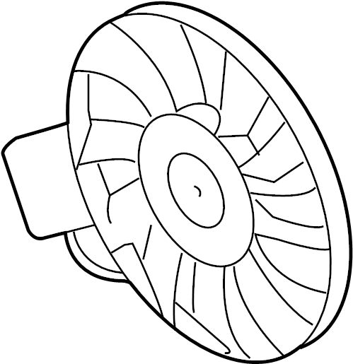 2004 Volkswagen Phaeton Engine Cooling Fan Motor (Front