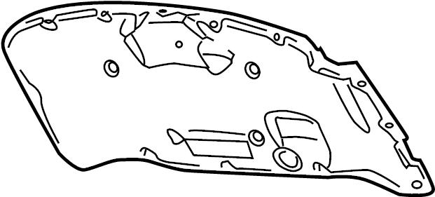 2006 Volkswagen Phaeton Hood Insulation Pad. COMPONENTS
