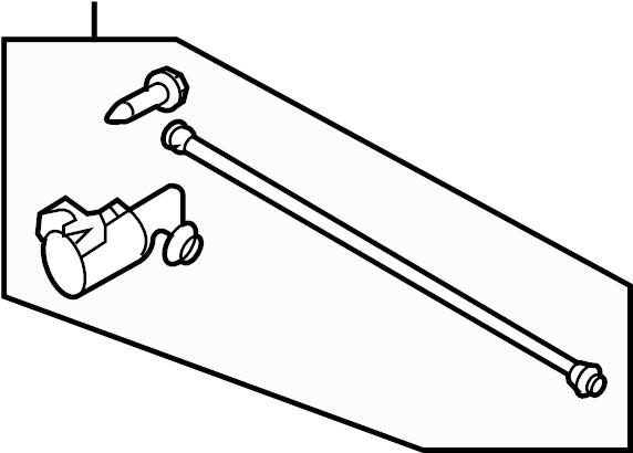 2008 Volkswagen Touareg Headlight Adjusting Screw. FROM 12
