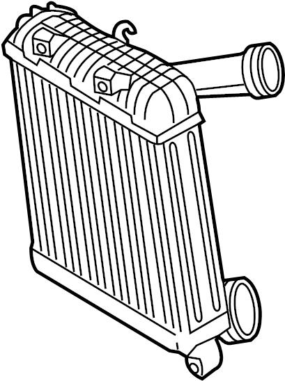 2013 Volkswagen Touareg Intercooler. LITER, COOLERS
