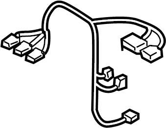 2004 Volkswagen Touareg Hvac system wiring harness. Front