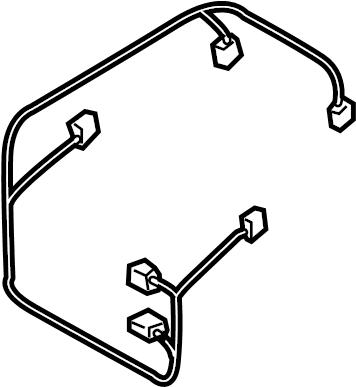 2007 Volkswagen Touareg Hvac system wiring harness. Rear