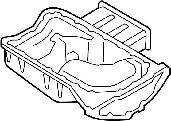 2004 Volkswagen Touareg Engine Oil Pan. LITER, BEARINGS