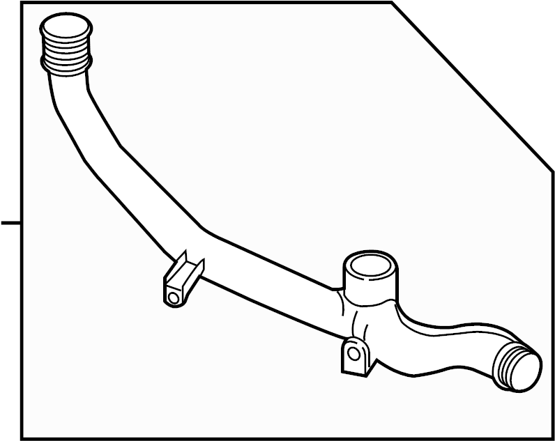 2012 Volkswagen Touareg Turbocharger Intercooler Pipe