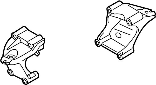 2015 Volkswagen Touareg Engine Mount Bracket (Upper