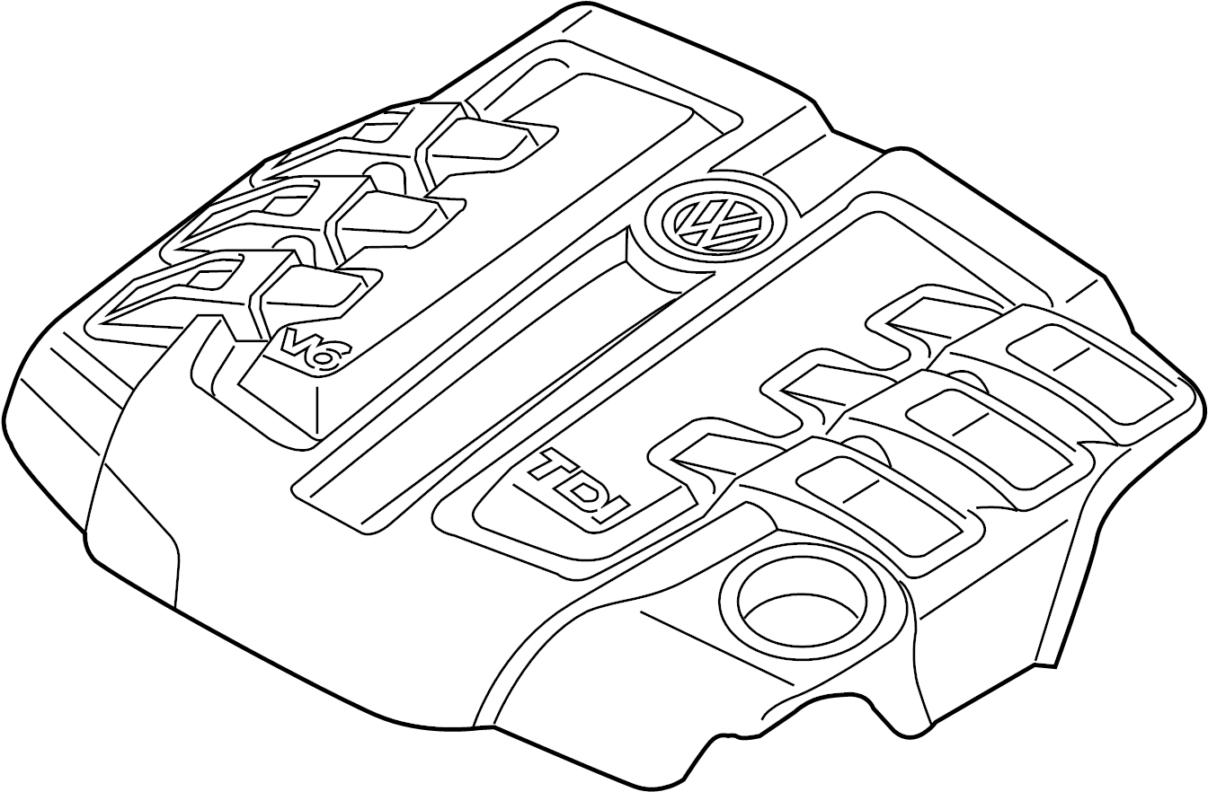 Volkswagen Touareg Engine Cover 16