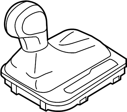 2012 Volkswagen Touareg Automatic Transmission Shift Lever