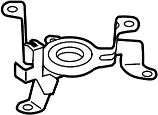 2016 Volkswagen Touareg Fuel Filter Bracket (Upper