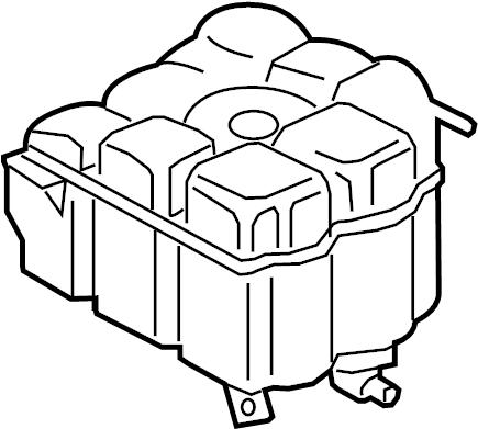 2016 Volkswagen Touareg Engine Coolant Reservoir
