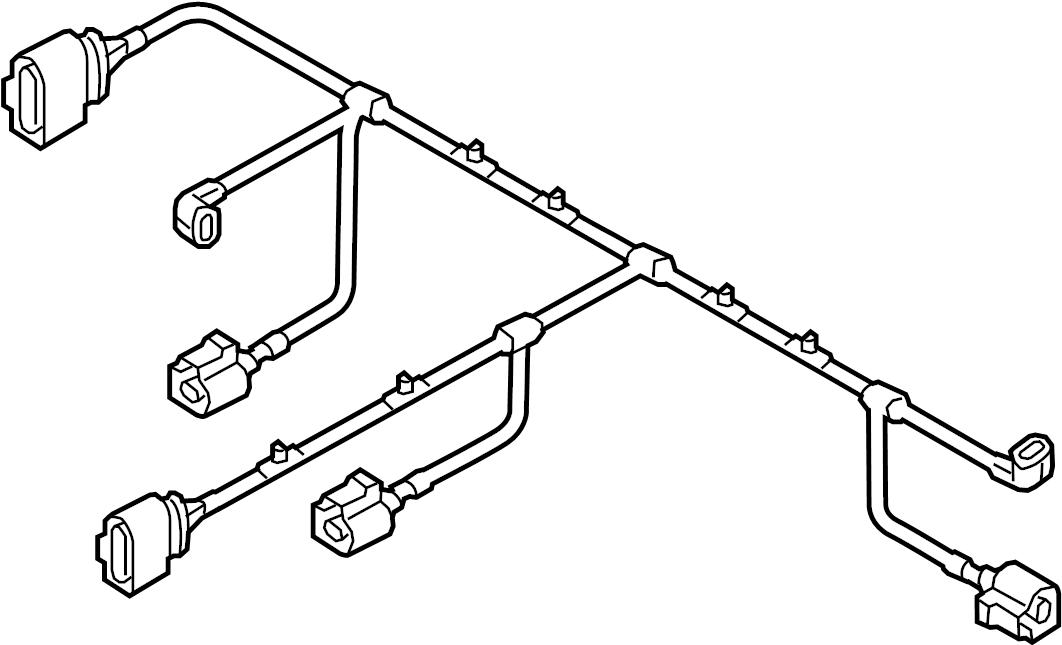 2011 Volkswagen Touareg Engine Wiring Harness. Front