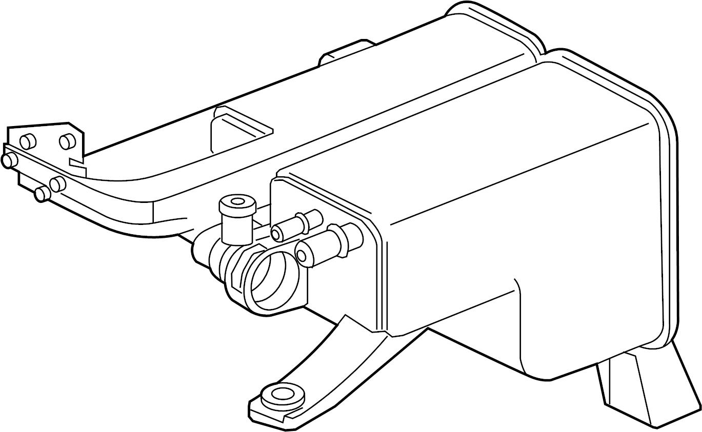 2012 Volkswagen Touareg Evapcanist. Emission, control