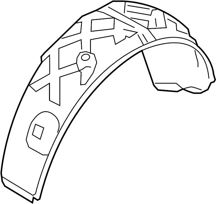 2017 Volkswagen Touareg Wheelhouse. Shield. Panel. Splash