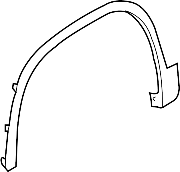 2012 Volkswagen Tiguan Wheel Arch Molding. Front Right; W