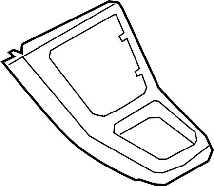 2013 Volkswagen Tiguan Console Trim Panel (Upper). Plate