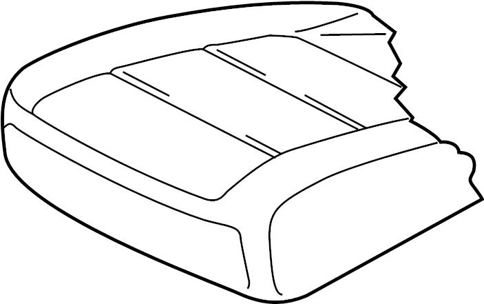 2010 Volkswagen Tiguan Seat Cover. SEAT CUSHION, MANUAL