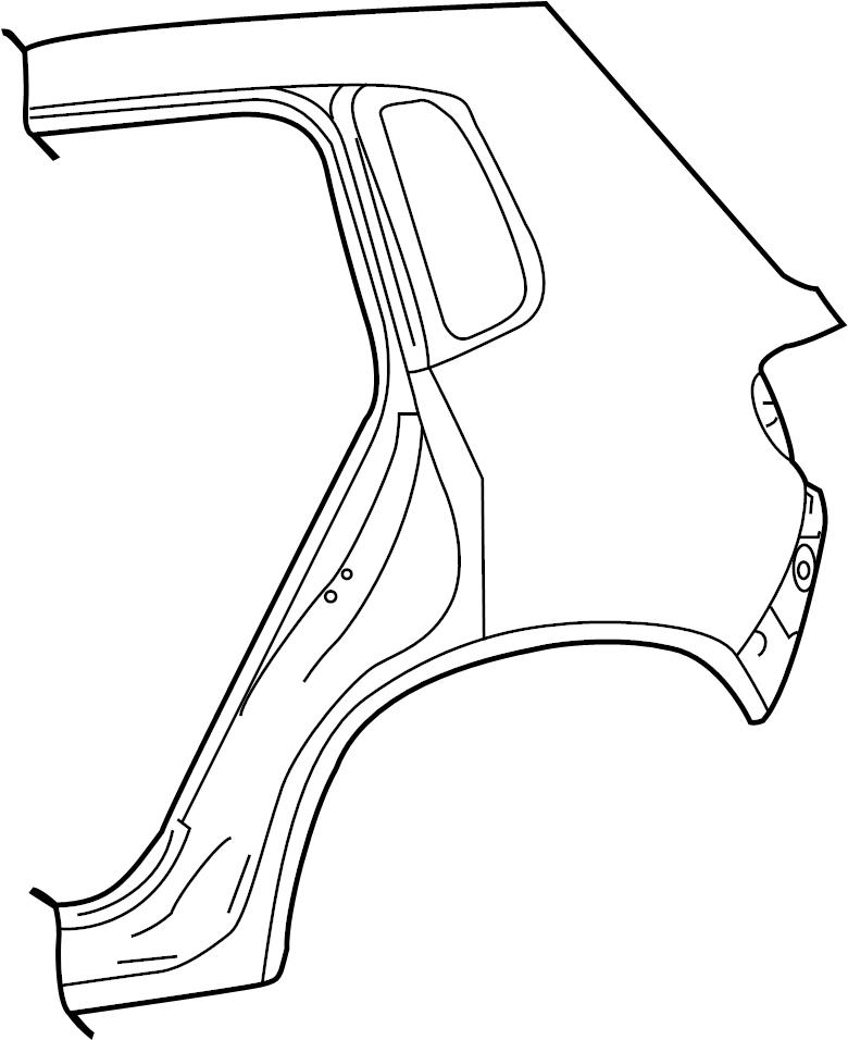 2016 Volkswagen Tiguan Quarter Panel. Rear Right Inner