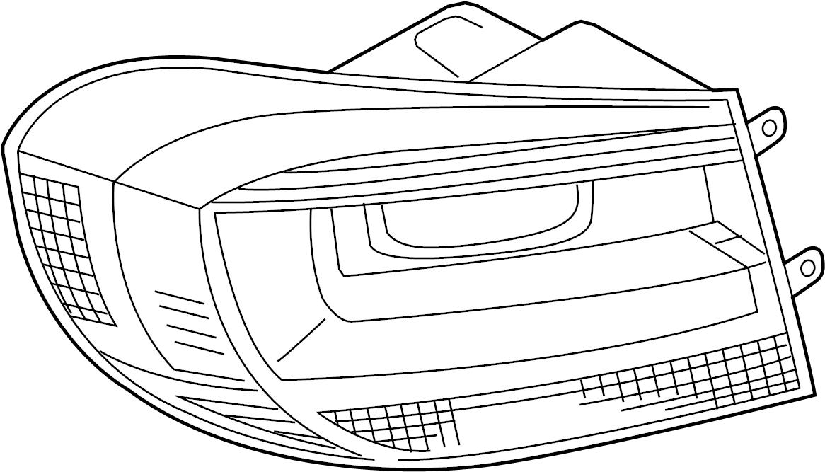 2014 Volkswagen Tiguan Tail. Lamp. Light Assembly. Combo