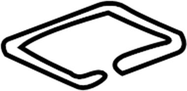2001 Volkswagen Passat Cabin Air Filter Seal. Filter