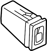 2004 Volkswagen Passat Seat Heater Switch. Left, Heated
