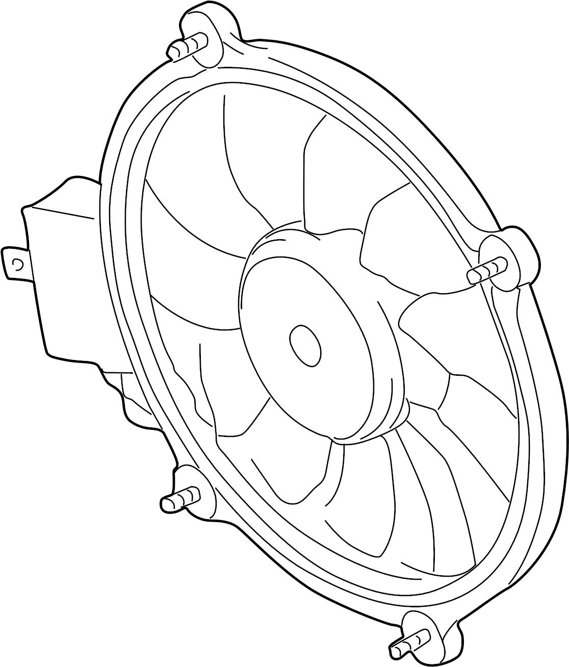 2002 Volkswagen Passat Wagon Electric. Fan and motor