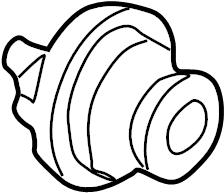 1999 Volkswagen Passat Engine Coolant Thermostat. Trans