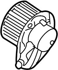 2005 Volkswagen Passat Wagon Motor. Blower. HVAC. Fan